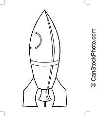 brinquedo, simbólico, foguete