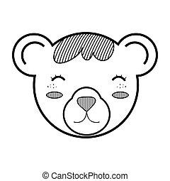 brinquedo, urso, pelúcia