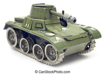 brinquedo velho, tanque