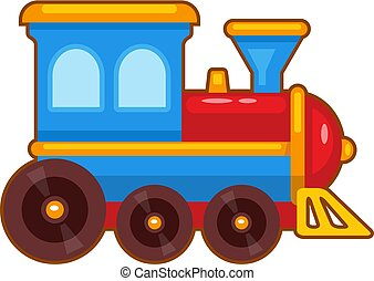 brinquedo, vetorial, trem, ilustração
