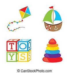 brinquedos, ícones