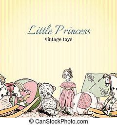 brinquedos vintage, loja, folheto