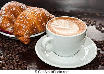 brioches, cappuccino, mercado de zurique
