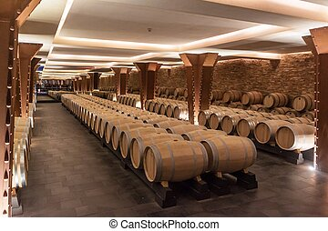 Interior of the Vivanco winery museum - BRIONES, SPAIN -...