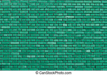 brique, émeraude, fond, mur, vert