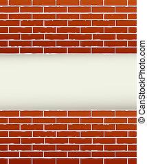 brique, arrière-plan rouge