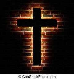 brique, croix