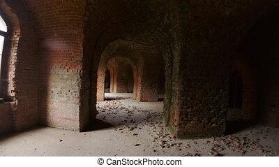 brique, destructed, structure, vieux, exploration