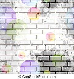 brique, graffiti, mur