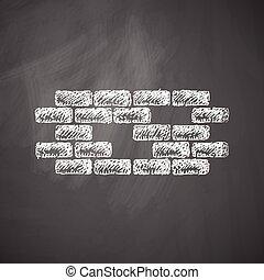 brique, icône