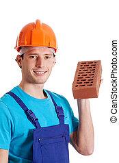 brique, ouvrier construction, tenue