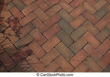 brique, promenade