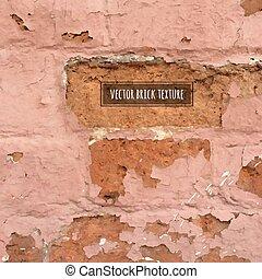 brique, vecteur, texture