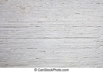 brique, vieux, texture, blanc