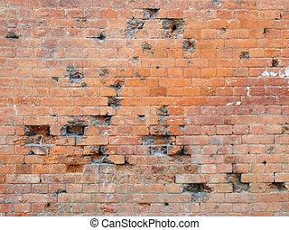 brique, vieux, texture, toile de fond