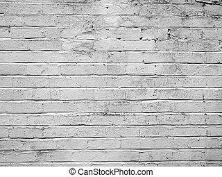briques, blanc