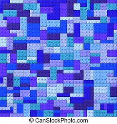 briques jouet, -, fond couleur, bleus