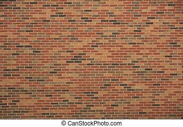 briques, mur, fond