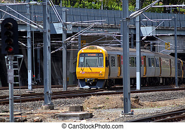 Queensland Rail - BRISBANE, AUS - SEP 26 2014: Queensland...