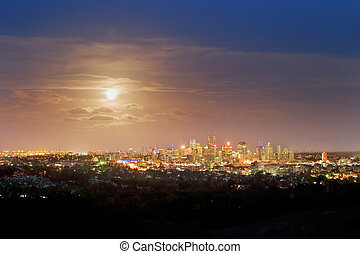 Brisbane by night - Brisbane city skyline by night