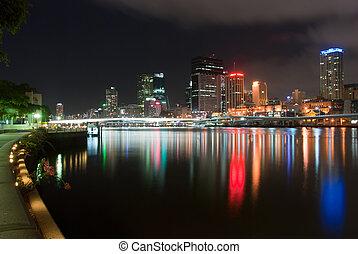 Brisbane City At Night - Queensland - Australia - Brisbane ...