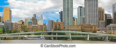 Brisbane City, Panorama - Brisbane city, north bank of ...