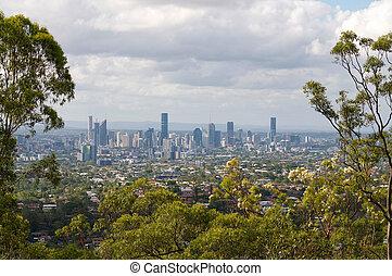 Brisbane city view from Mount Gravatt