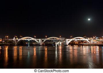 Brisbane City - William Jolly Bridge At Night - Queensland...