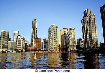 brisbane, ciudad, australia