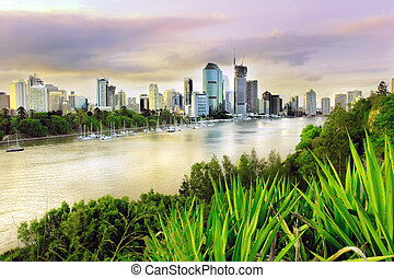 Brisbane evening - Brisbane city - early evening