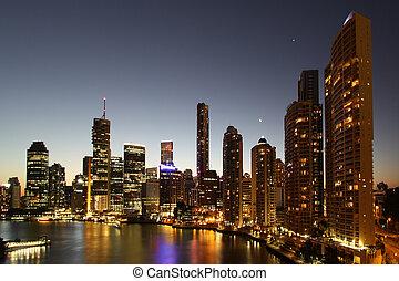 Brisbane on the river