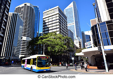 Brisbane Transport - Queensland Australia - BRISBANE, AUS -...