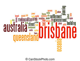 Brisbane word cloud