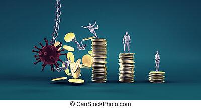 briser, économie, virus, mondiale