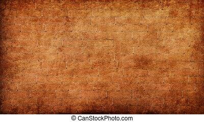 briser, grungy, mur, brique