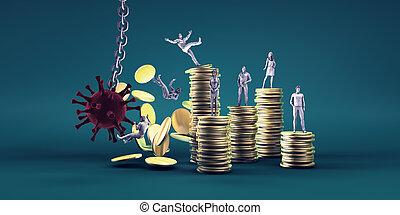 briser, virus, économie mondiale