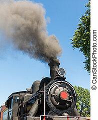 británico, locomotora, tipo, llamado, 1913, rios, chile., región, tren, valdivia, 57., corre, meridional, antilhue, los, valdiviano, turista, norte