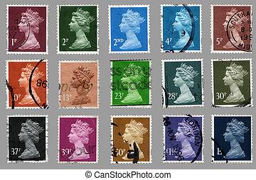 británico, sellos