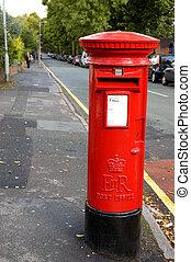 britânico, caixa postal