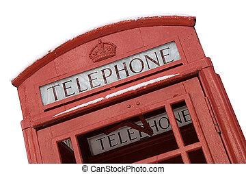 britânico, caixa telefone