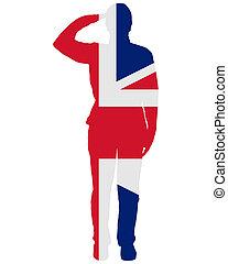 britânico, saudação