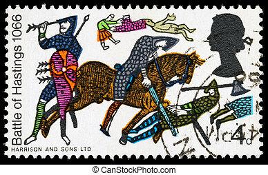 Britain Battle of Hastings Postage Stamp - UNITED KINGDOM -...
