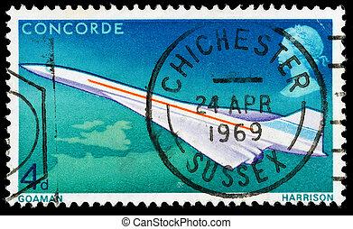 Britain Concorde Postage Stamp - UNITED KINGDOM - CIRCA...