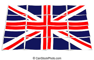 britain flag isolated on a white