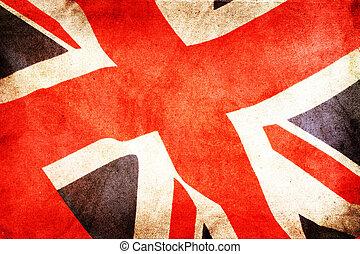 britain, nagy, lobogó