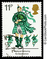 Britain Scots Piper Postage Stamp