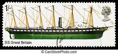 Britain SS Great Britain Postage Stamp