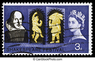 Britain William Shakespeare Postage Stamp - UNITED KINGDOM -...