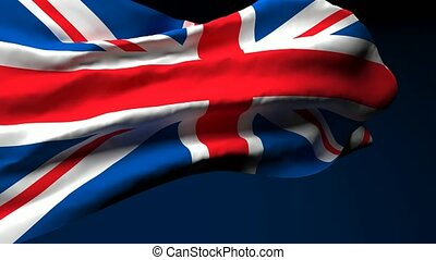 Britain's national flag flutters in the wind