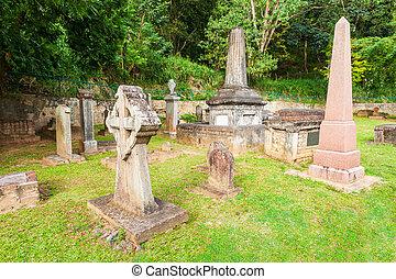 britannico, guarnigione, cimitero, kandy